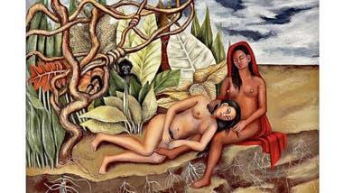 Cuadro Dos desnudos en el bosque de Frida Kahlo