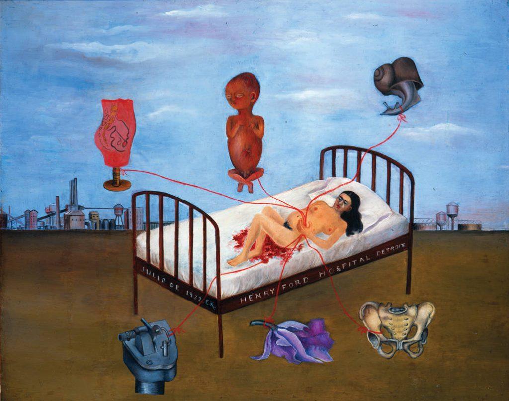 henry ford hospital, abortos de frida kahlo