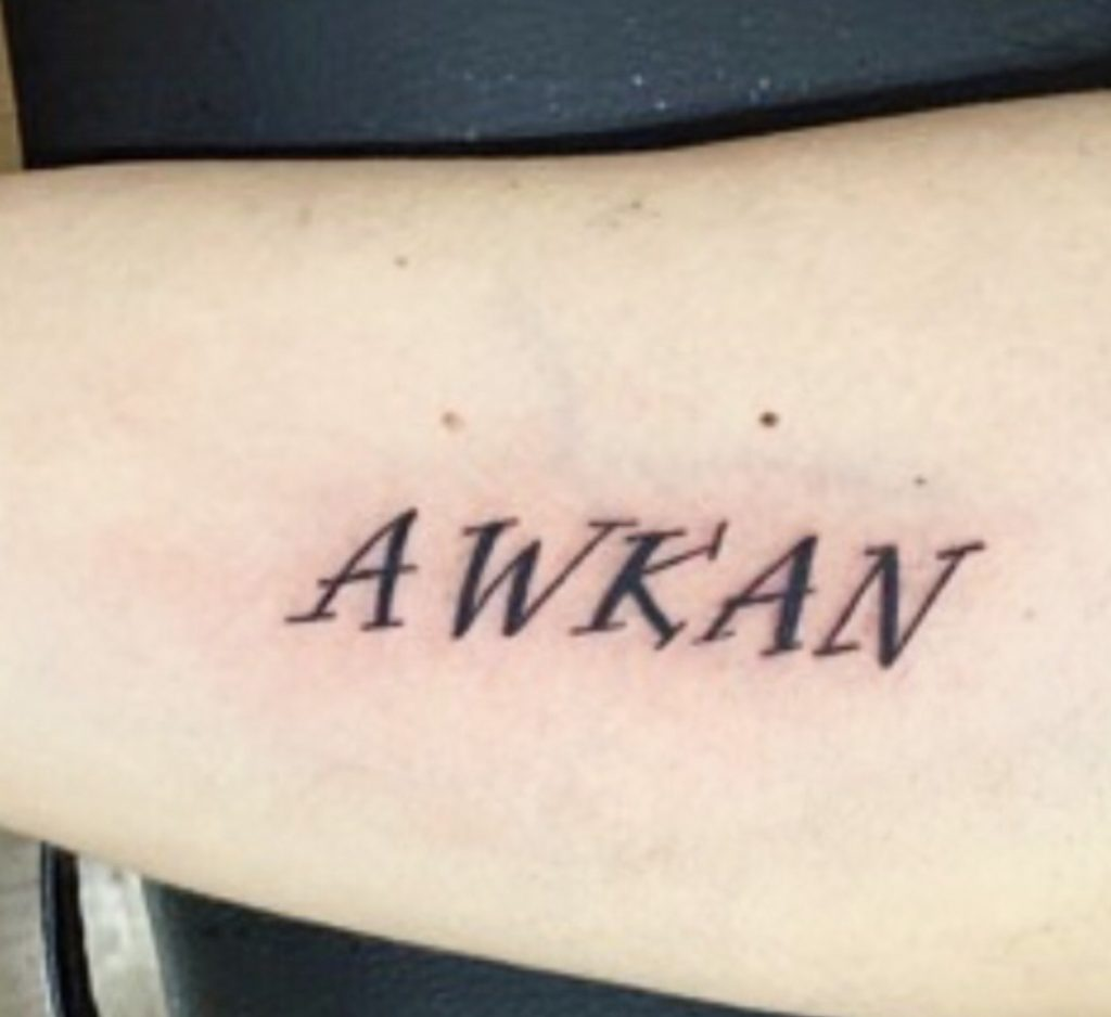 tatuaje awkan - significado de la palabra awkan en español